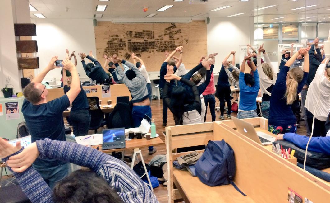 Mid-hackathon Yoga